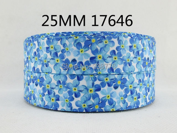 "10Y17646 1"" flowers series high quality printed polyester ribbon, DIY handmade materials, wedding gift wrap"