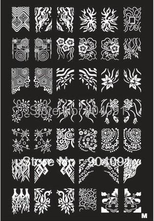 Retail A-Z Series XL Medium Size Stamp Stamping Image Konad Plate Print Nail Art Large BIG Template DIY(China (Mainland))