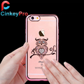 Luxury Bling Crystal Rhinestone Diamond Swan Peacock Case For iPhone 6 6S Soft Clear Silicone Shell