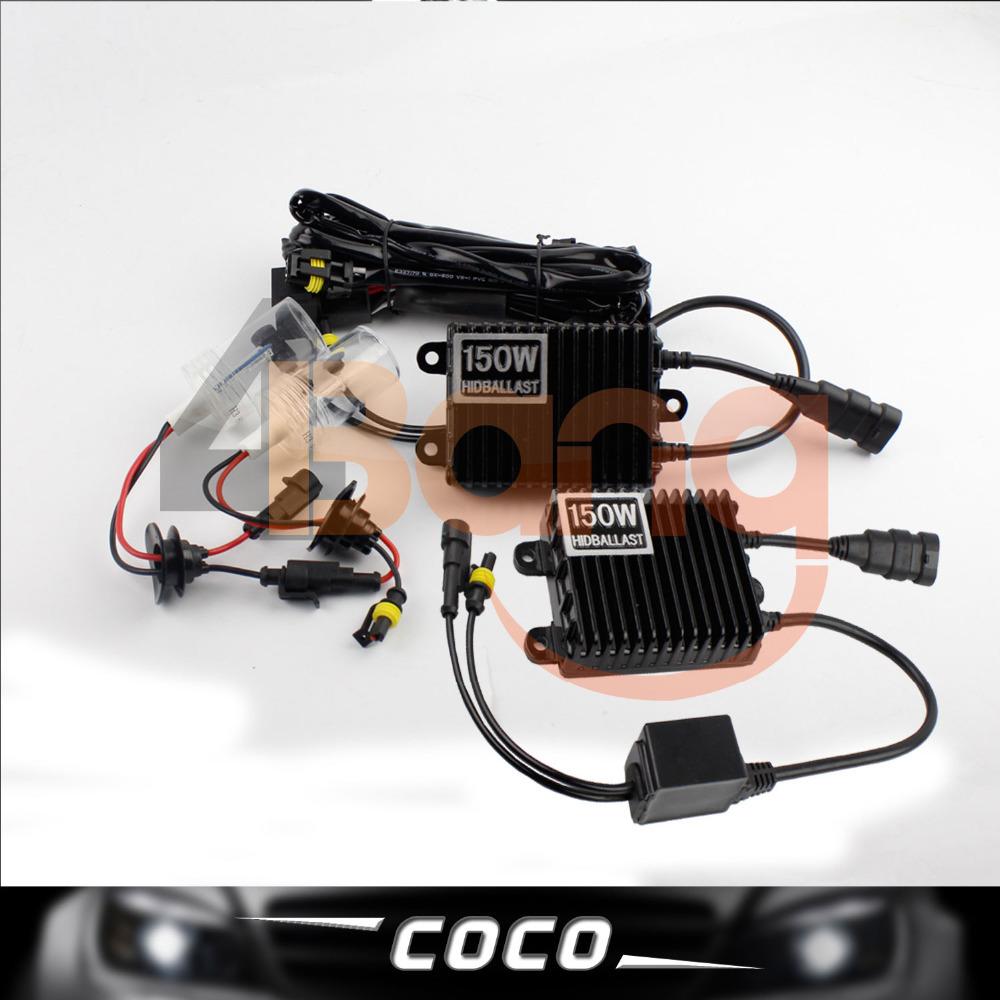 Set 12V AC 150W H1 HID Xenon Kit Slim Ballast Single Beam Super Bright Headlight For Van 4300k 5000k 6000k 8000k 10000k 12000k(China (Mainland))