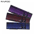 RAJFOO Gaming Keyboard 3 color Backlit Switchable Replaceable Suspended Keycaps Mechanical Feeling Teclado Gamer Keyboard for