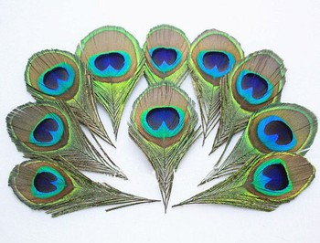 free shipping wholesale  50Pcs/Lot 8cm Length Nature Peacock Feather Eyes Blue Peacock Eye -Fly Tying Material wedding