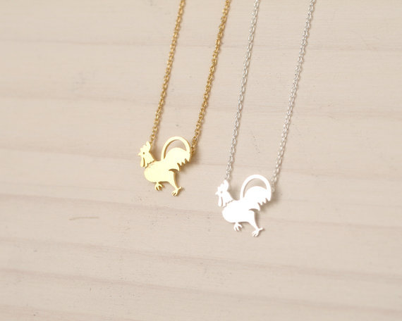 Hot Sale Rooster Necklace Animal Jewelry Bird pendant Cock Chicken Choker Fashion necklaces For WOMEN Gift 2015 Free Shipping(China (Mainland))