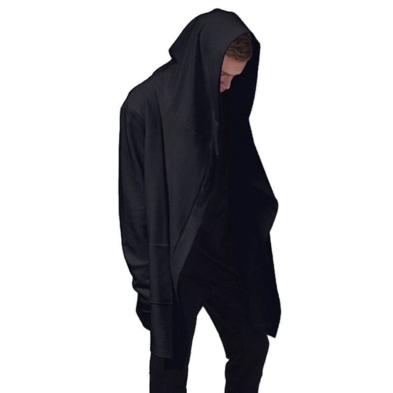 Original Design Spring Autumn Brand Men's Sweatshirt Hoodie Men Hood Cardigan Mantissas Black Cloak Outerwear Oversize Vc0989(China (Mainland))