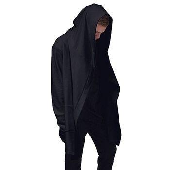Оригинальный дизайн весна осень бренд мужская толстовка балахон мужчины гуд кардиган мантиссы черный плащ верхняя одежда сверхразмерные Vc0989