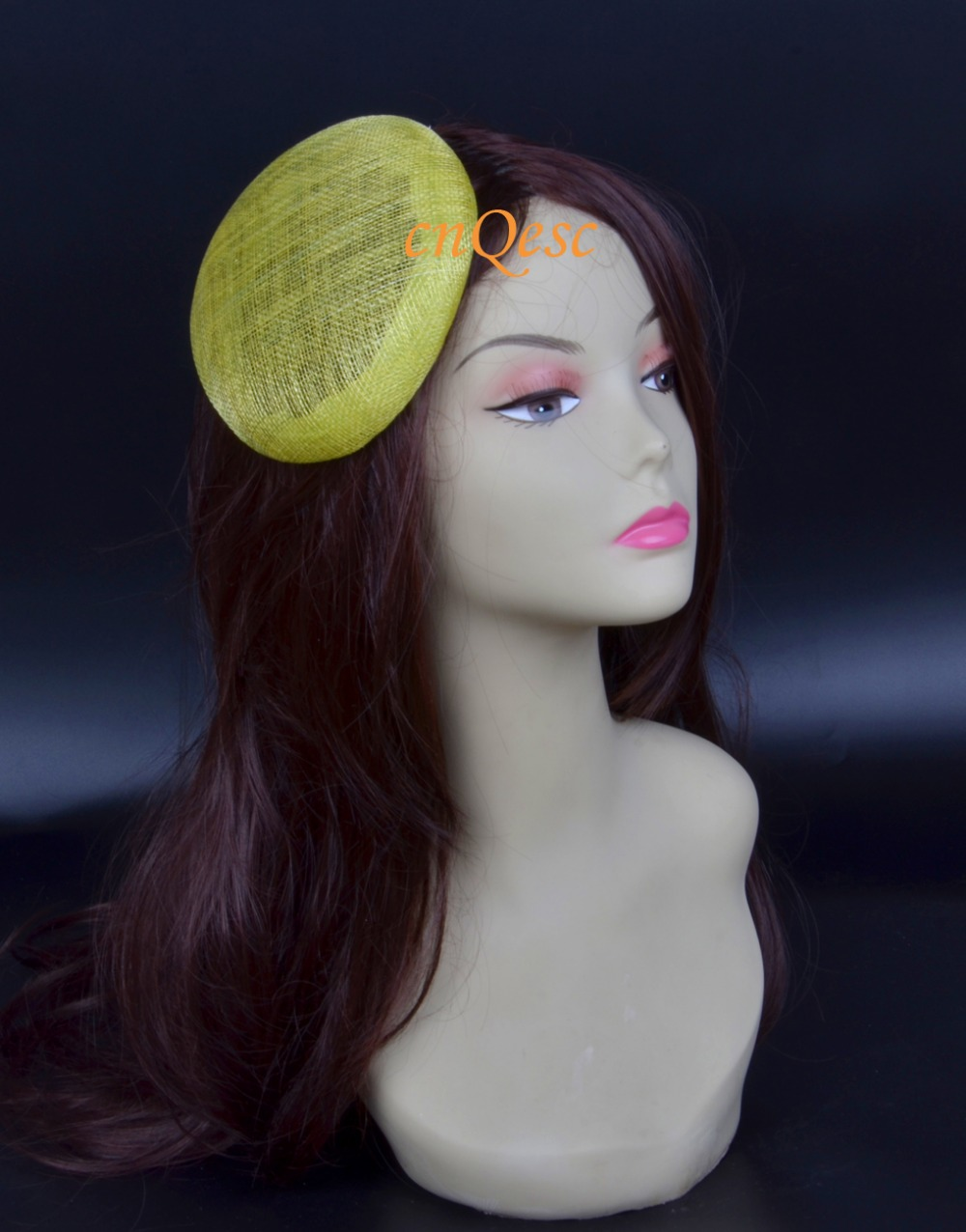 High quality Lime green 14cm sinamay base for fascinator.(China (Mainland))