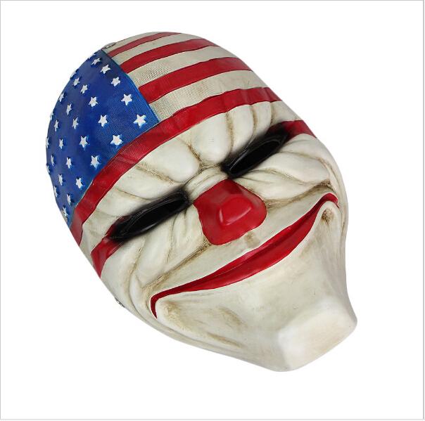 Halloween Fashion Game Payday 2 Dallas Masks Resin Costume Prop Dress Heist Joker Cosplay Party Face Head Mask - Autoradio online-shop store