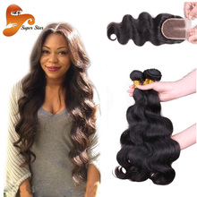 Brazilian Body Wave With Closure 7A Brazilian Virgin Hair 3 Bundles With Closure Unprocessed Virgin Brazilian Hair With Closure