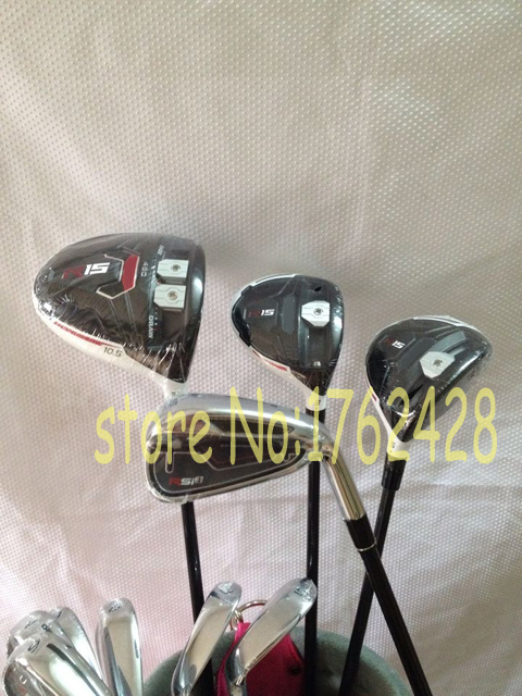 12pcs/set 2015 golf clubs R15 driver + R15 fairway woods 3# 5# + Rsi1 Rsi 1 irons set (4-9#PAS)come headcover(China (Mainland))