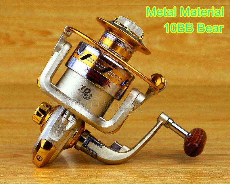 2015 new 10BB Bearing Balls Spool Aluminum Spinning fly fishing reels for Shimano Feeder baitcasting fishing front drag YL001(China (Mainland))
