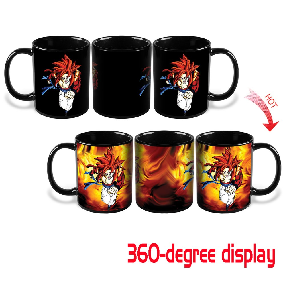 Heat Change Dragon Ball Z SSJ4 Gogeta Heat Reactive Color Changing Ceramic Coffee Cup Novelty Caneca Mug Cups Creative Mugs Gift(China (Mainland))