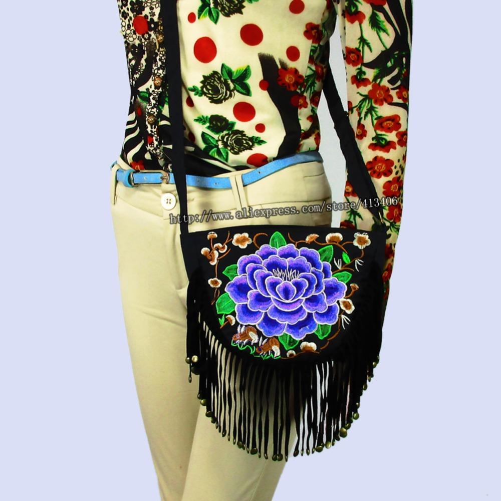 Vintage Hmong Tribal Ethnic Thai Indian Boho shoulder bag message bag handmade embroidery Tapestry SYS 400B