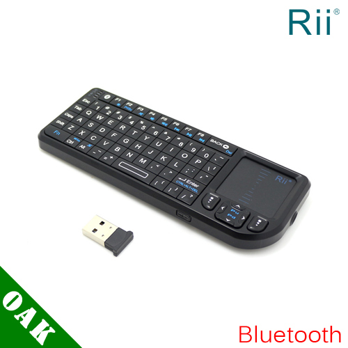 Free DHL_ Original Rii K02 Wireless Bluetooth Keyboard with Touchpad+Laser Pointer for Android TV Box - 20pcs(China (Mainland))