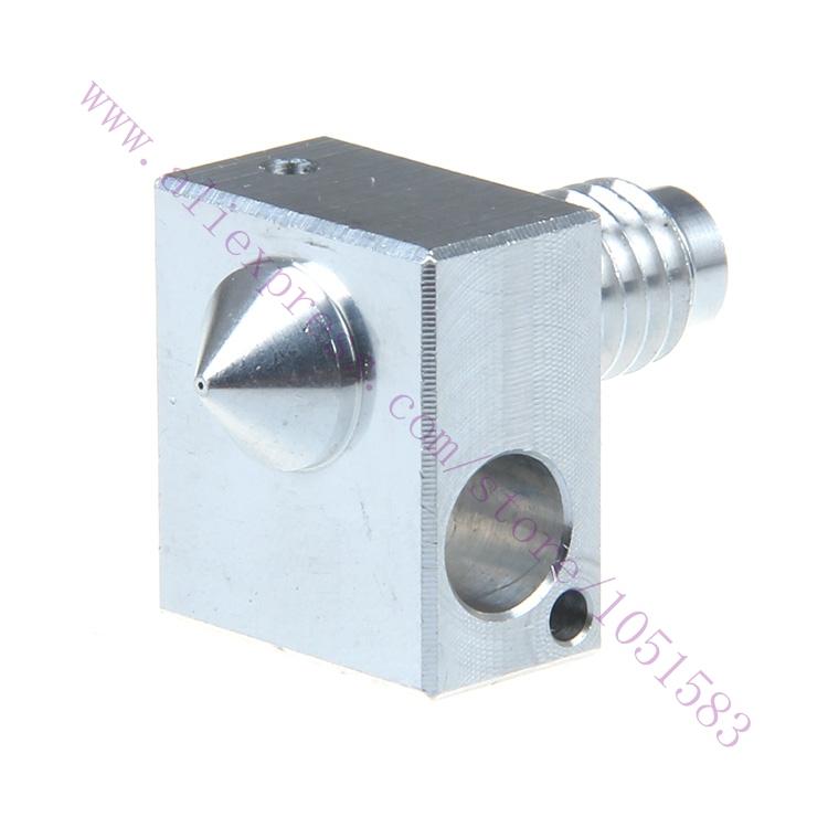 2pcs 3D Printer Aluminum Extruder Heating Block with Aluminum Nozzle 0 2 0 3 0 4