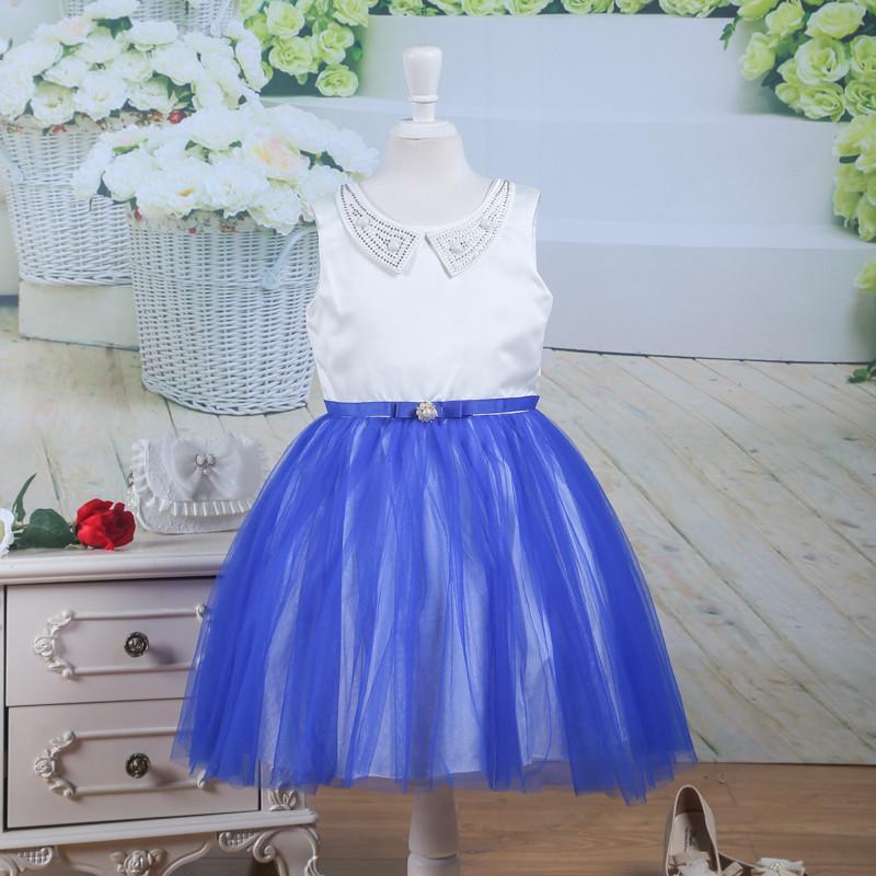 Скидки на Мода Девушки Одеваются Розовые Розы Лук Пояса Свадьба День Рождения Детская Одежда Платье Принцессы Vestidos