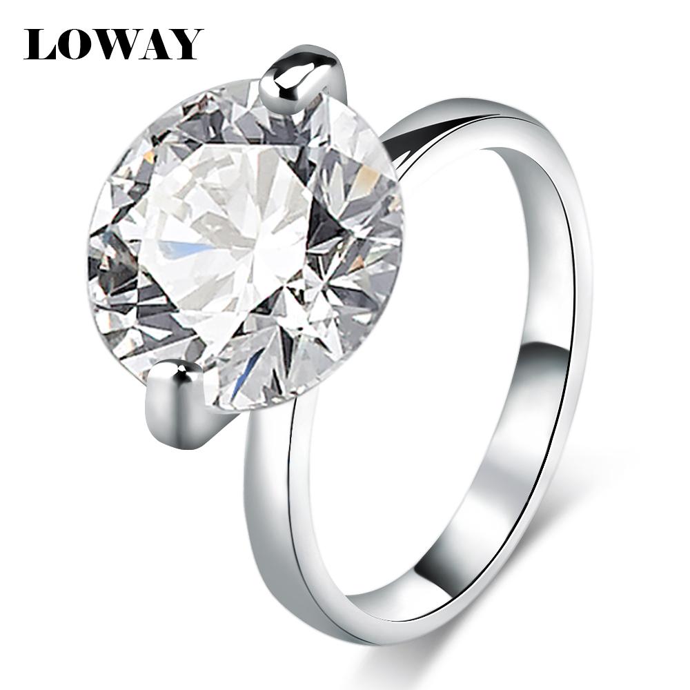 Гаджет  LOWAY Fashion Gorgeous Stunning Ultra Big 10 Carat Cubic Zirconia Platinum Plated  Wedding Rings For Women JZ5893 None Ювелирные изделия и часы