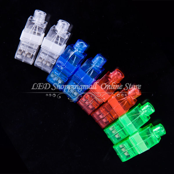 100pcs/lot LED finger light,4 color Laser finger lamp for party. birthday,Chistmas decoration(China (Mainland))