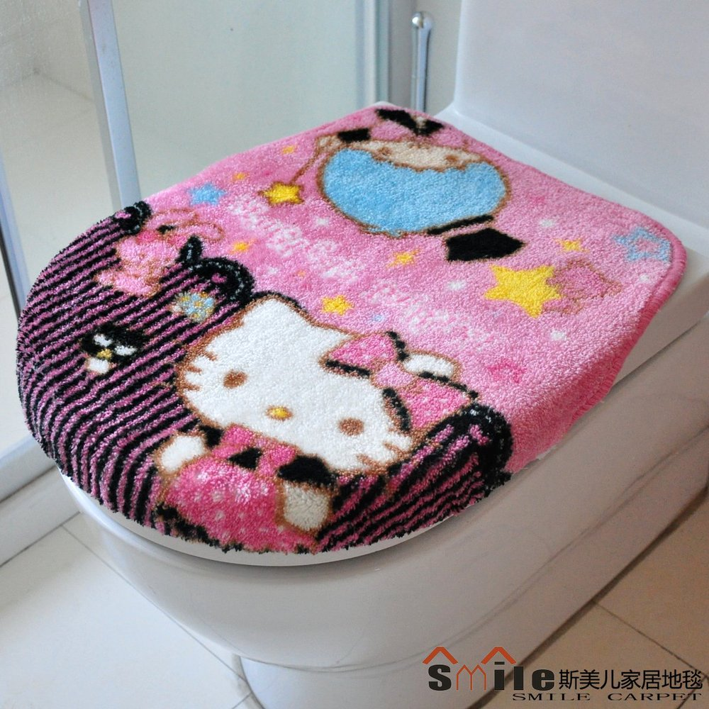 Home Decor Hello Kitty Seat Covers Soft Cute Toilet Two pcs - Colorful Party Paradise store