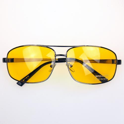 Aviator Driver Driving HD High Definition Night Vision Sunglasses Yellow Lens Sun Glasses Men Unisex(China (Mainland))