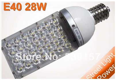 DHL free shipping High Quality E40 28W LED street light,3360LM,3 years warranty,28*1W LED Street light AC85~265V 2pcs/lot(China (Mainland))