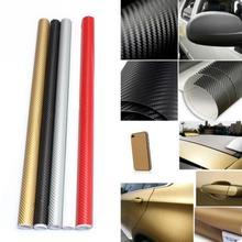 Super High Quality Carbon Fiber Film Wrap Roll Adhesive DIY 3D Car Sticker Sheet Wrap 30x127cm Home Decoration(China (Mainland))
