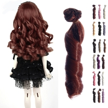 Free Shipping BJD SD Doll Wigs Hair DIY High-temperature Wire Curly Wave Wig Natural Color Wigs Hair