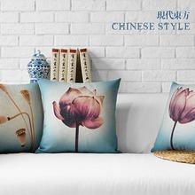 Lotus lumbar pillows floral cushions