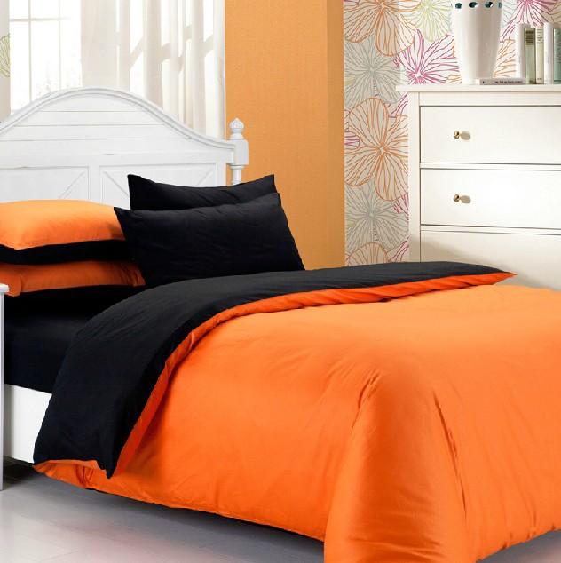 Best 28 orange and black comforter set black and for Black white and orange bedroom