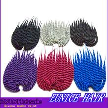 12 inch Senegalese Havana Mambo Twist Crochet Braid Hair Synthetic Kanekalon Twists Braiding Hair Extension for sale
