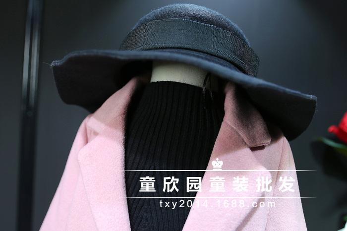 Скидки на Дети 2016 зимние пальто девушки супер большой бренд детской одежды костюм воротник в долгосрочной версии шерстяное пальто