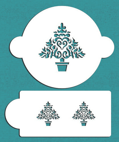 Christmas Tree Cake Stencil,Stencil for cake decorating ...