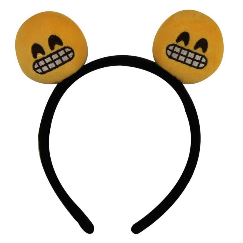 Lovely New Year Headwear Emoji Smiley Emoticon Amusing Headband Customized Hair Band Men Womens 2016 New Arrival(China (Mainland))