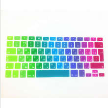 Arabic Letter UK EU Rainbow Silicone Keyboard Cover Skin Protector Protective Film for Apple Mac Book Pro Retina Air 13 15 17
