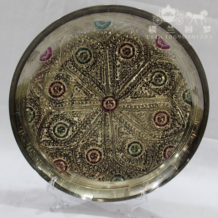 Pakistan bronze plate imported handicraft gift hand carved bronze ornaments decorations(China (Mainland))