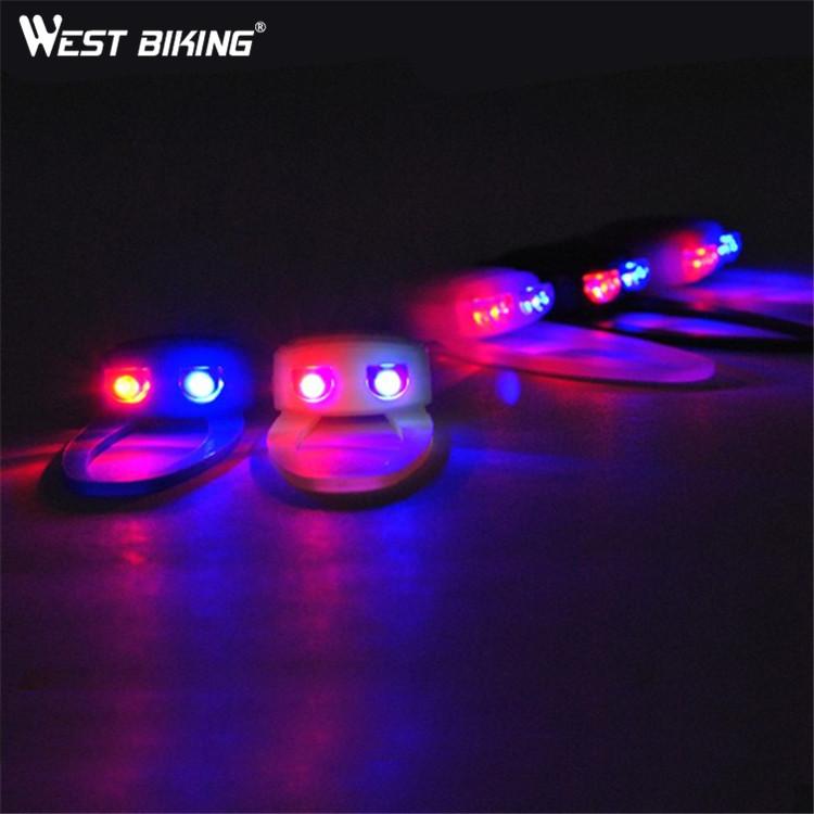 WEST BIKING Ultra Bright Waterproof Silicon Led Bike Light Led Front + Rear Bike Bicycle Cycling Light(China (Mainland))