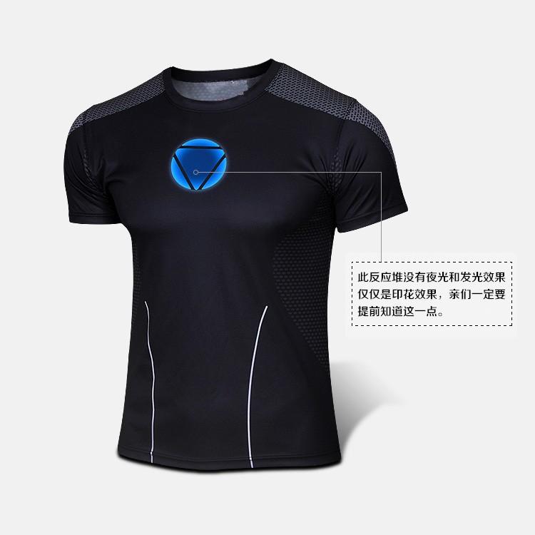 Marvel Super hero Avengers Batman Captain America Flash T shirt Men Armour Base Layer Thermal Under Sport Causal tshirt homme(China (Mainland))