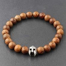Amader New Arrival bransoletka z koralików z drewna mężczyzn 5 Style Handmade bransoletki buddy Vintage kobiety biżuteria Unisex Bijoux ABJ001(China)