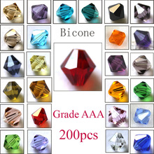 Buy Crystal Bicone Beads 5301 200PCS/LOT 3MM 4MM 5MM 6MM 8MM 10MM Czech Loose Crystal Beads/ Faceted Glass Beads DIY Jewelry for $3.91 in AliExpress store