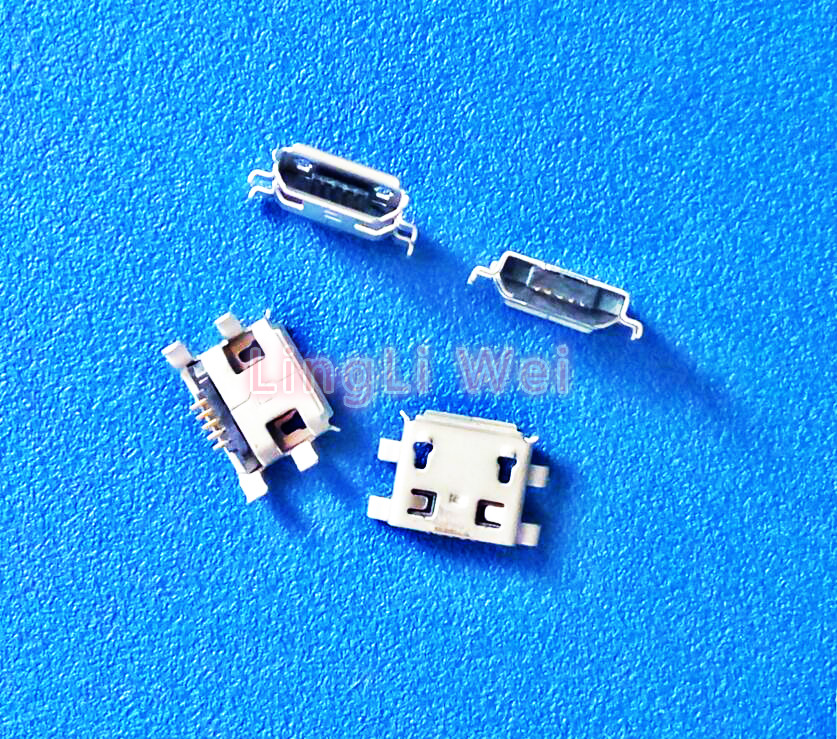 10Pcs Micro USB Jack Connector Type B Female 5Pin Tail Board 0.8mm Type Solder Socket Connectors Charging Socket for PCB Board