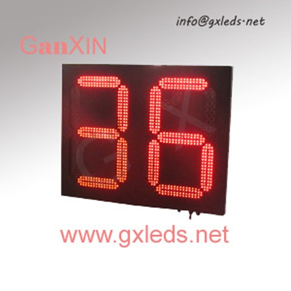 High brightness red steel frame alibaba express outdoor led countdown clock(China (Mainland))
