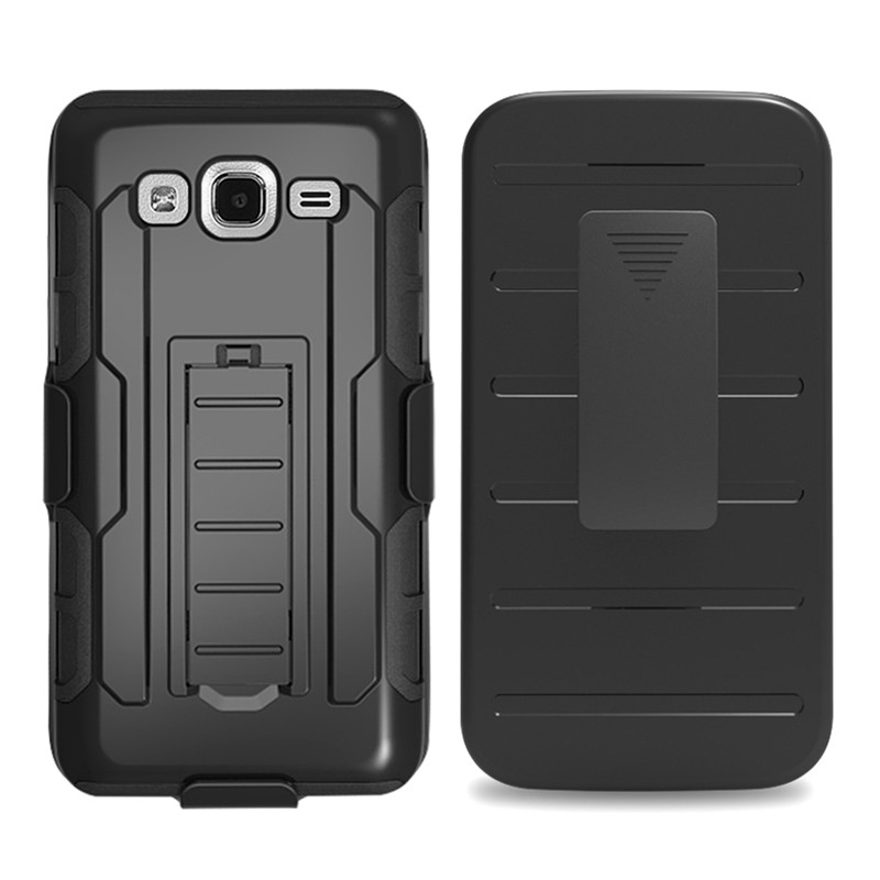Duty Armor Case For Samsung Galaxy On5 Case Stand Belt Clip Hybrid Outdoor Black Cover On 5 G550 G5500 O5 Shockproof Hard Case(China (Mainland))
