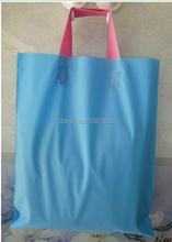 Free Shipping Size 35*40cm Blue plastic promotional shopping bags,large plastic shopping bags with handle(China (Mainland))