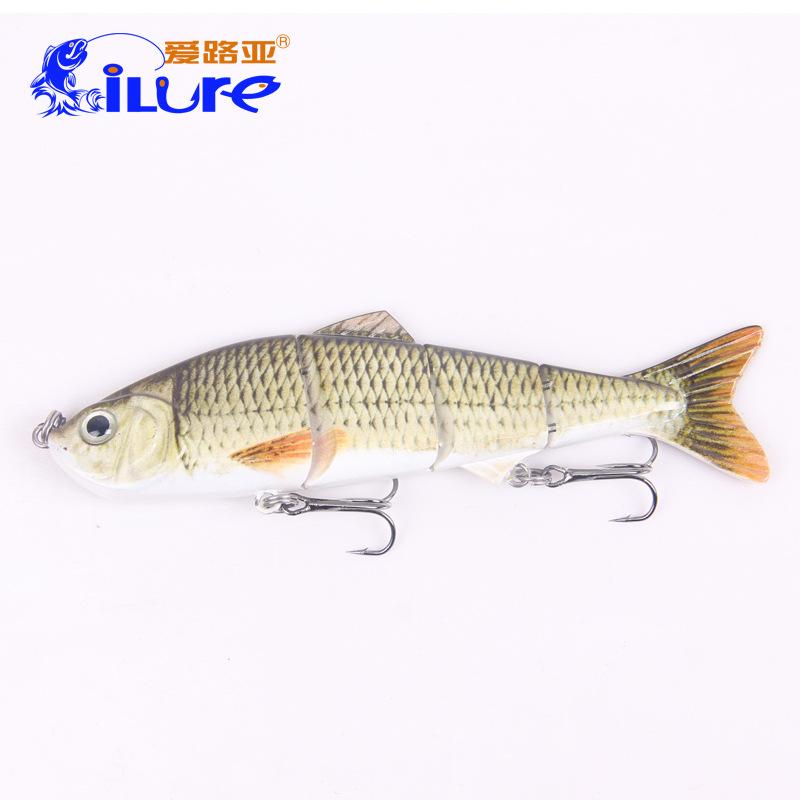 iLure 12cm/17g Carp Bait Fishing Lures Professional Ocean Boat Fishing Carp Bait 4 Section Plastic Bionic Bait(China (Mainland))