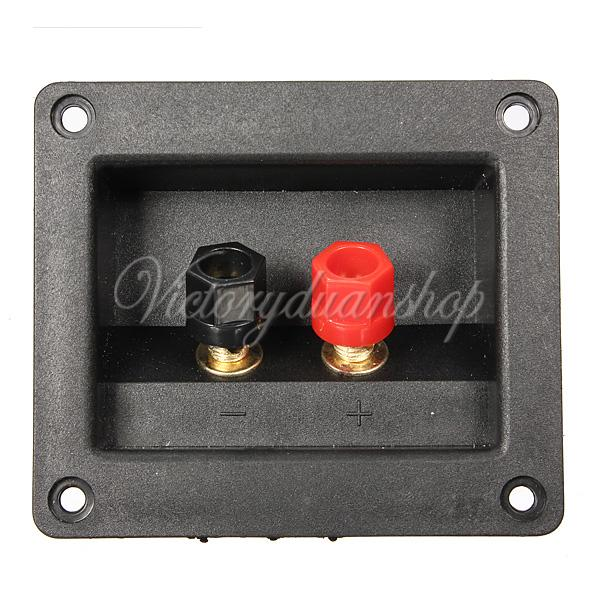 High Quality Brand New Square Binding Post Type Speaker Box Terminal Cup Wire Cable Box Connector 90X78mm(China (Mainland))