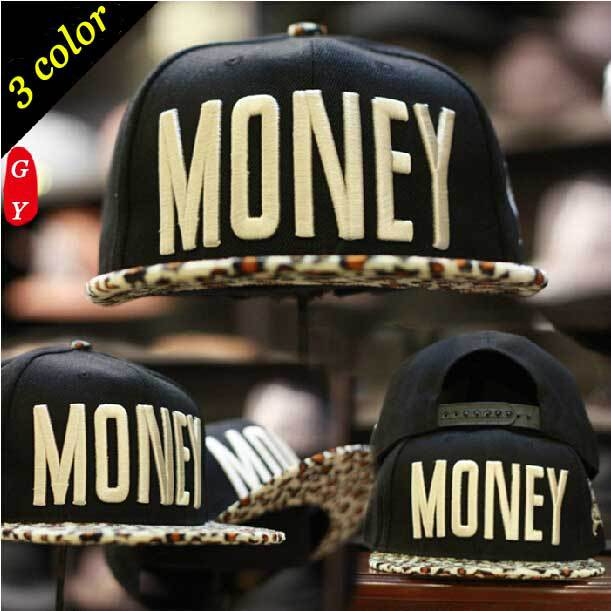 New Fashion Men's Womens Western Style Snapbacks MONEY Letters Embroidery Leopard Hip-hop Cap Bboy Baseball Caps - KF Store store