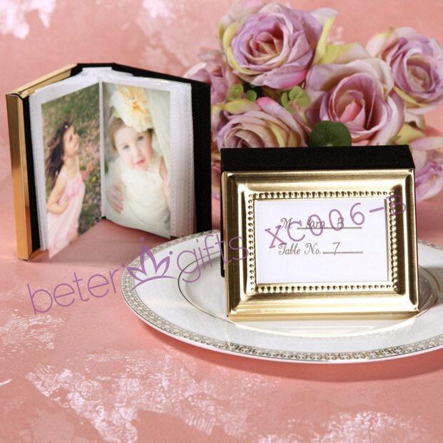 50pcs Golden 50th Wedding Anniversary Mini Photo Album Place Card Holder XC006 B In Photo