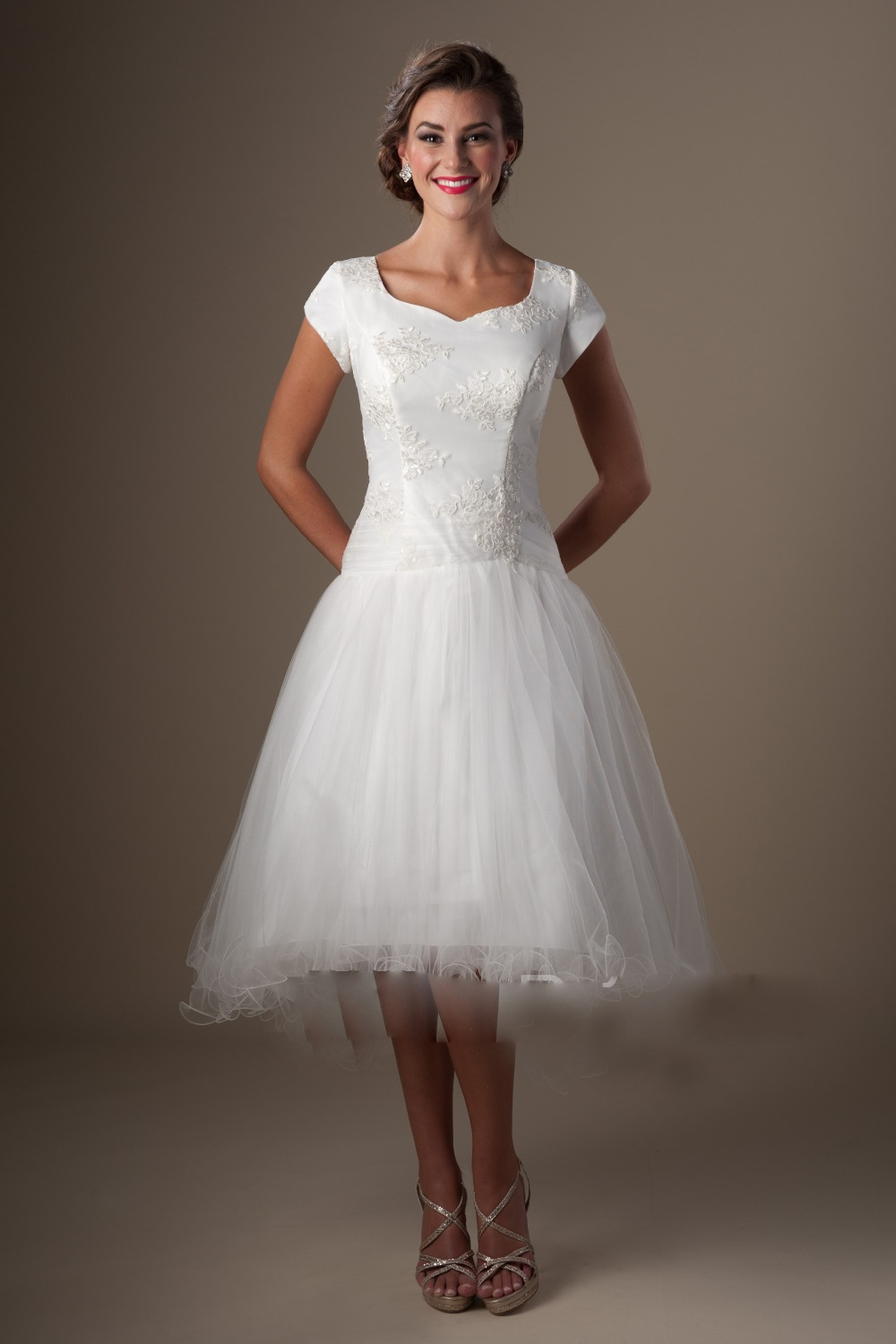 Cheap Tea Length Wedding Dresses Online Cheap Wedding