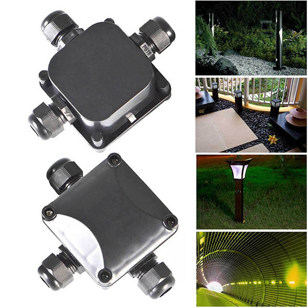 2 pcs 3 waterproof junction box outdoor electrical power
