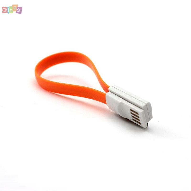 Orange Color Magnetic Data Line USB Charging Cable for iPhone 4 4s 3GS 3G(China (Mainland))