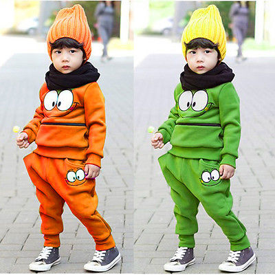 Best Price 2Pcs Baby Toddler Kids SportsWear Tracksuit Top+Pants Outfit Fall Winter(China (Mainland))